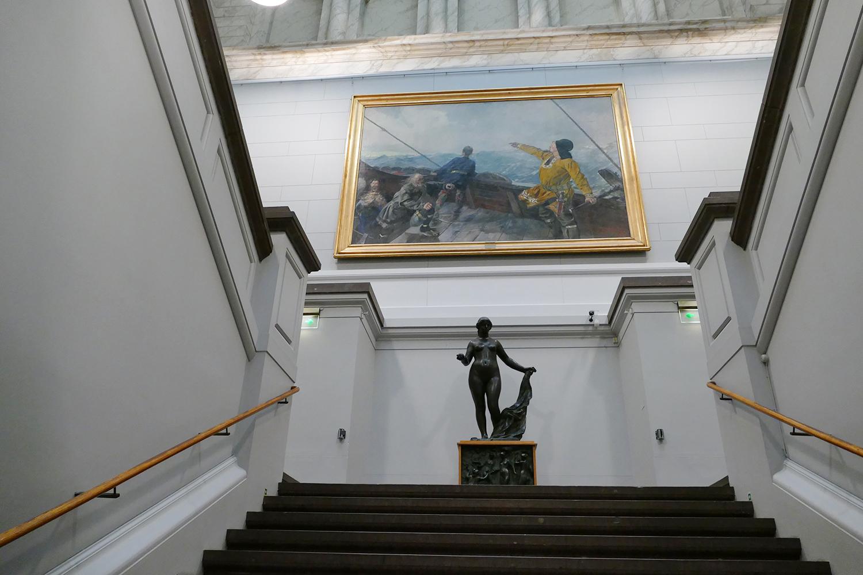 L'entrée de Nasjonalgallariet d'Oslo