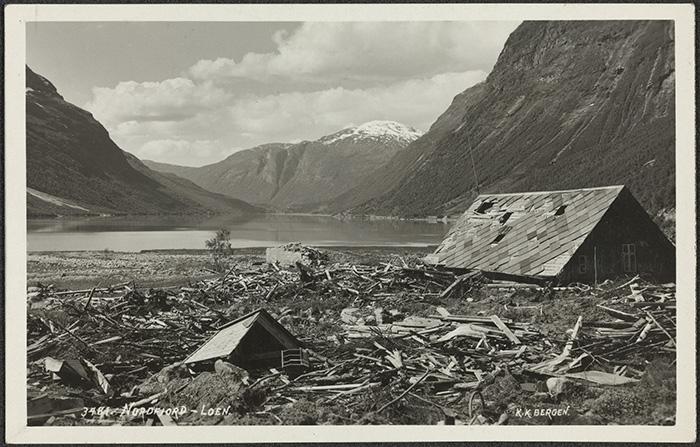 Tsunami de Nordfjord à Loen en Norvège