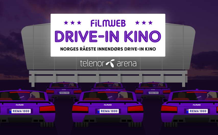 Cinéma drive-in au Telenor Arena à Oslo