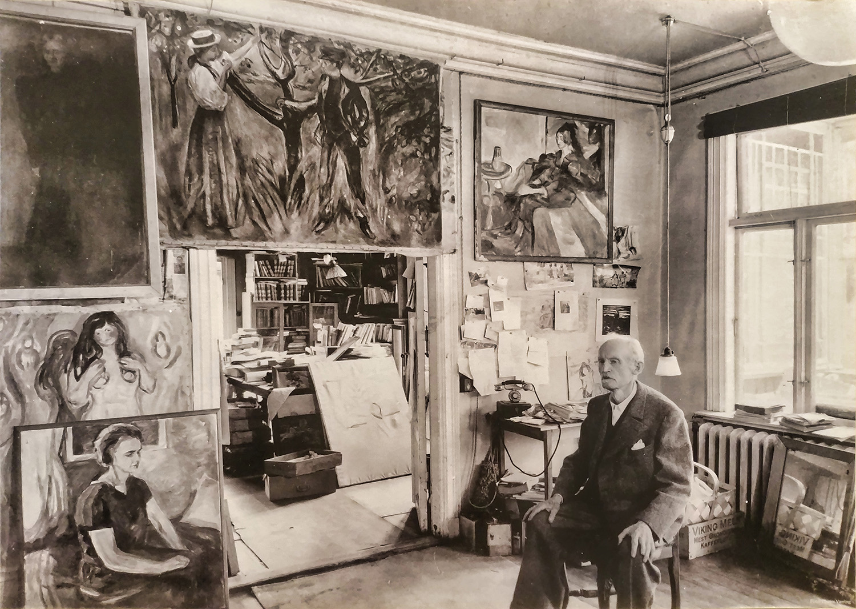 Portrait d'Edvard Munch – exposition Exit