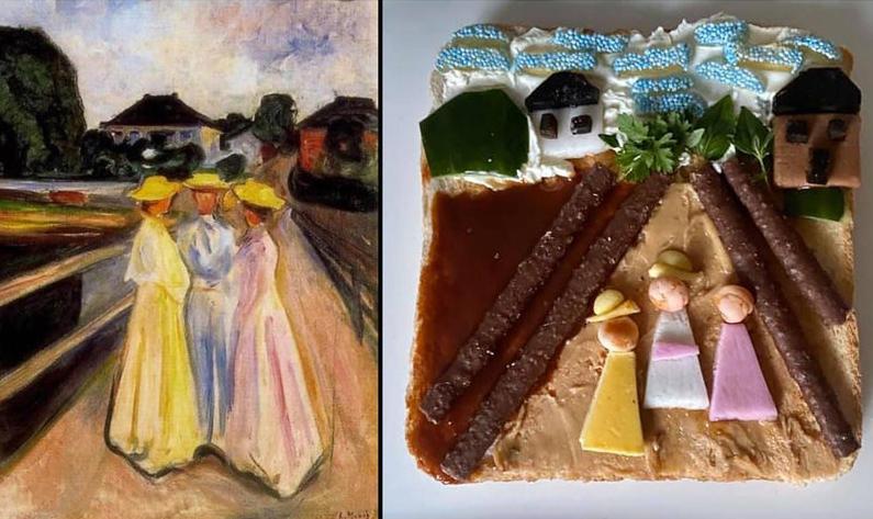 Trois Filles sur la Jetée d'Edvard Munch par Caroline Barnes