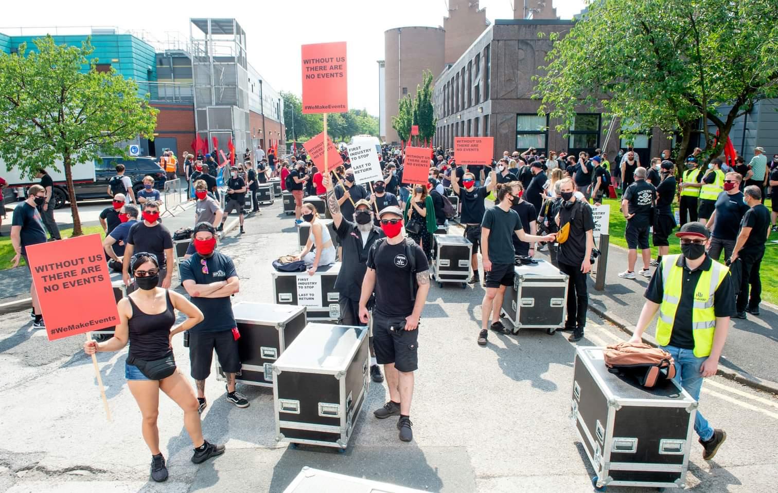Manifestation du secteur culturel à Oslo
