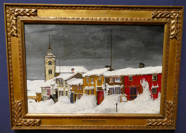 Harald Sohlberg - « Gate i Røros » à la Galerie Nationale d'Oslo