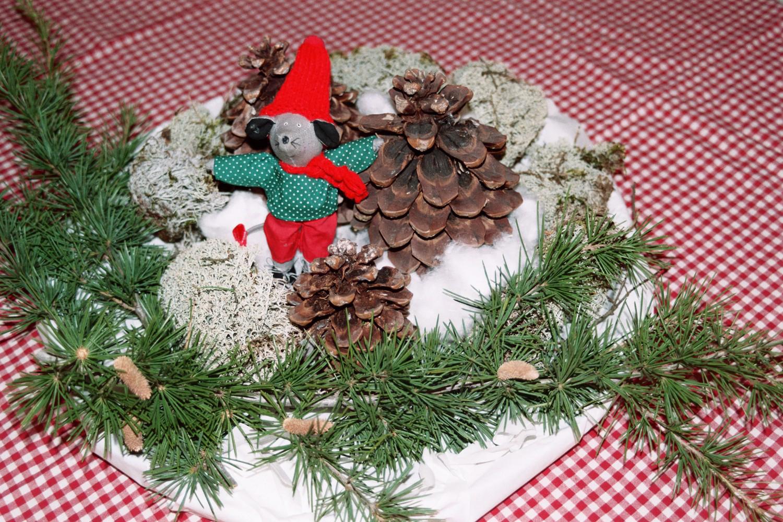 Couronne de table de Noël