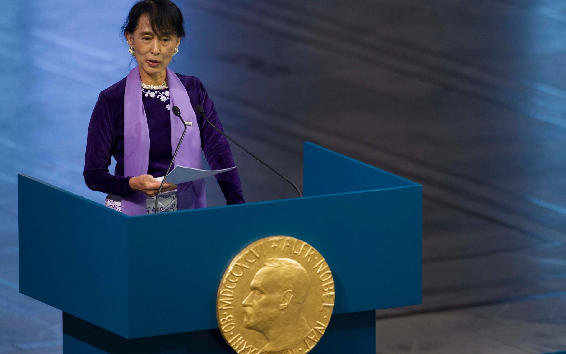 Aung San Suu Kyi, Prix Nobel de la Paix 1991
