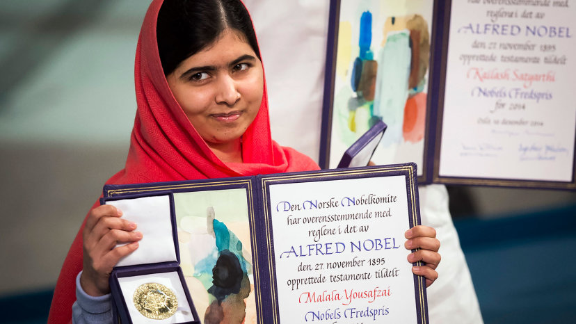 Malala Yousafzai, Prix Nobel de la Paix 2014