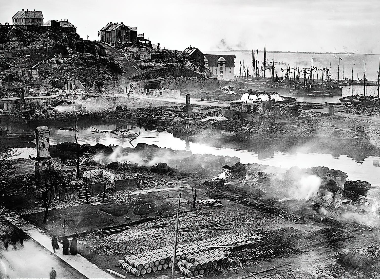 Ålesund après l'incendie en 1904