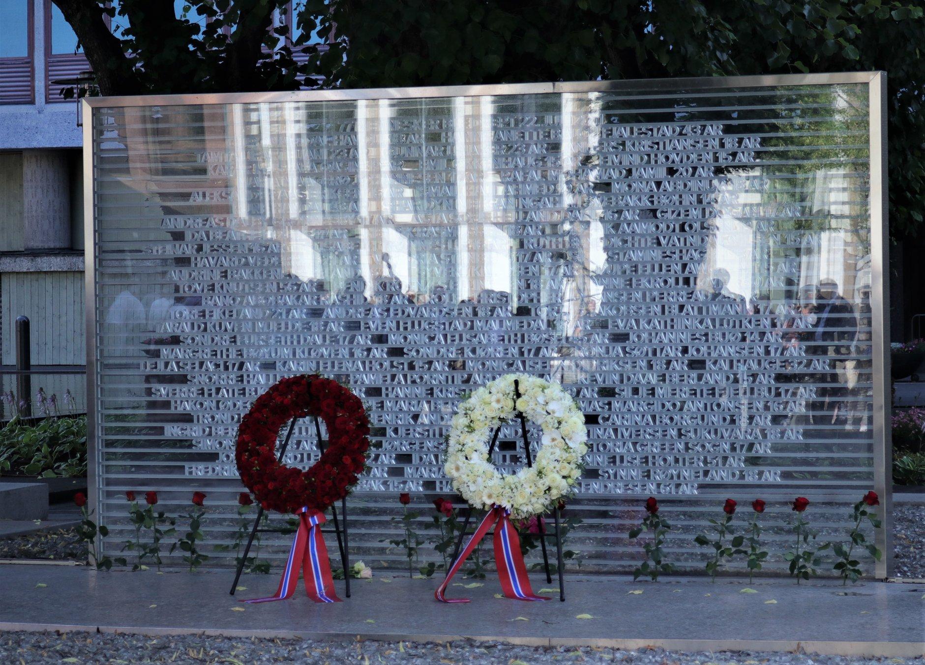 Memorial du 22 juillet à Oslo