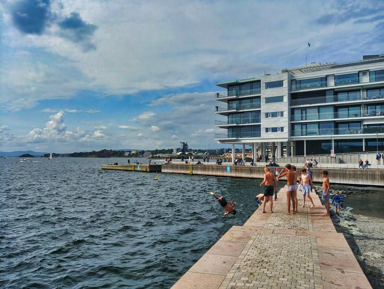 Le ponton de Tjuvholmen