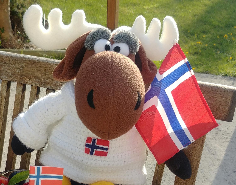 Élgar l'élan, la mascotte de Norvege-fr.com