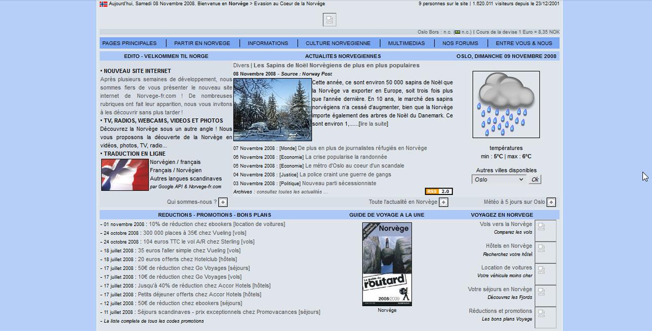 Site Norvege-fr.com en 20111