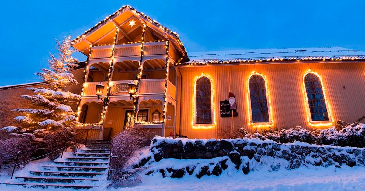 Maison du Père Noël à Drøbak @Tregaardens Julehus