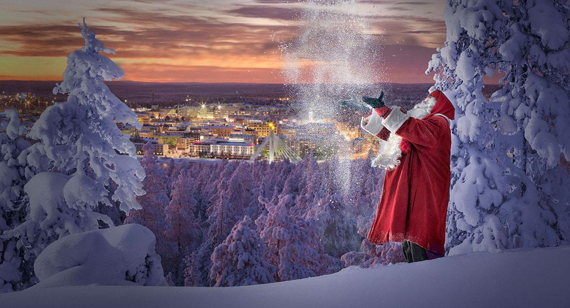 Le père Noël à Rovaniemi en Finlande
