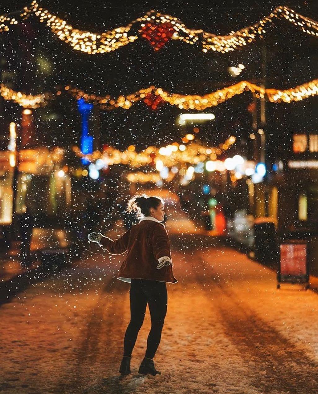 Noël sous la neige à Tromsø